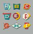 alphabet letters on retro signs vector image vector image