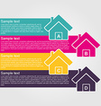 Infographic design style colorful house vector image