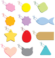 Multicolored labels on a string vector image vector image