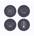 Traffic lights manual gearbox and wiper icons vector image