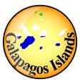 button Galapagos Islands vector image