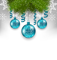 Christmas background with traditional adornment vector image
