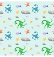 Deep-sea life seamless pattern vector image
