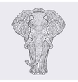Elephant with a floral pattern vector image