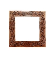 Frame black and brown with abstract print vector image