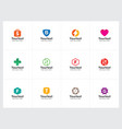 minimal and clean logo collection vector image