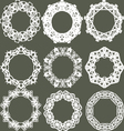 Set of separated round lacy ornaments vector image