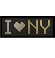 yellow button board words i love NY vector image