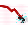 business crash vector image vector image