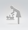 Maternity nursing icon vector image