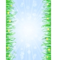 Grass Frame Background vector image vector image