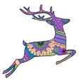 Jumping deer vector image vector image