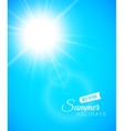 Summer background summer sun with lens flare vector image vector image