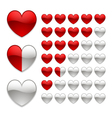 rating of hearts vector image vector image