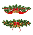 Christmas adornments vector image