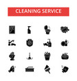cleaning service thin line icons vector image
