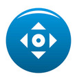 cursor displacement app icon blue vector image