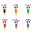 pencil with big eyes vector image