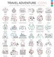 Travel adventures ultra modern outline line vector image