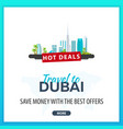 travel to dubai travel template banners for vector image