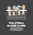 Volleyball Block Players Sports Graphic vector image