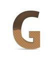 Wafer G letter vector image
