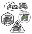 car off-road 4x4 suv trophy truck logo set vector image vector image