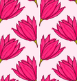 Big pink flower on solid pink vector image