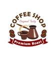 Coffee shop or cafe symbol cartoon style vector image vector image