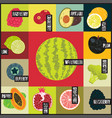 pop art retro grunge style fruit poster vector image