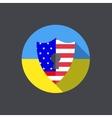modern ukraine shield background Eps 10 vector image vector image