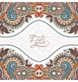 invitation card with neat ethnic background royal vector image