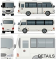 urban passenger minibus vector image vector image