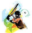 baseball player playing vector image