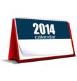 al 0518 desk calendar vector image