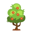 Garden tree with flowers vector image