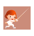 Girl in fencing costume vector image