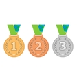 Gold medal icon Silver medal icon Bronze medal vector image