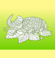 rhinoceros beetle insect fashion vector image
