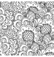 Seamless black and white background vector image