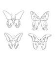 set of sketches doodle butterflies vector image