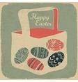Vintage happy easter vector image