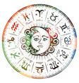 zodiac signs horoscope vector image