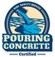 pouring concrete logo vector image