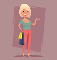 cheerful blond girl with shopping bags sale buyer vector image