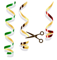 Background with party streamers vector image vector image