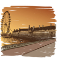 London cityscape drawing vector image