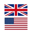 flags the US and UK vector image