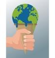 Global warming design vector image