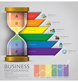Sandglass Money And Financial Business Infographic vector image
